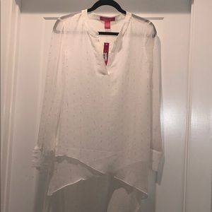 NWT Catherine Malandrino high-low blouse